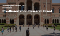 Pre-Dissertation Research Grant at University of California, USA 2020
