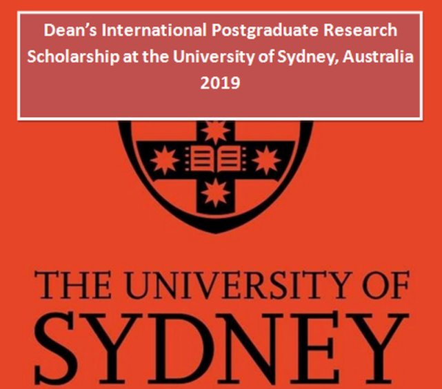 Dean's International Postgraduate Research Scholarship at the