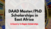 DAAD In-Country/In-Region PhD PositionsEastern Africa at Strathmore University, Kenya 2020