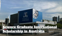 Science Graduate International Scholarship at the University of Melbourne in Australia