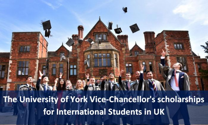 The University of York Vice-Chancellor's scholarships for International Students in UK