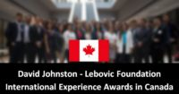 David Johnston - Lebovic Foundation International Experience Awards in Canada