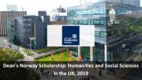 Dean's Norway Scholarship: Humanities and Social Sciences in the UK, 2019