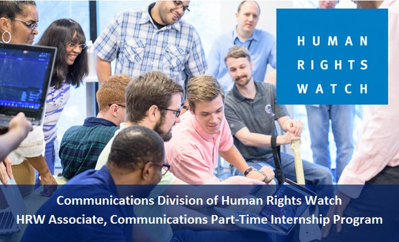 HRW Associate, Communications Part-Time Internship Program