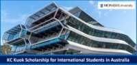 KC Kuok funding for International Students in Australia, 2019