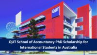 QUT School of Accountancy PhD funding for International Students in Australia