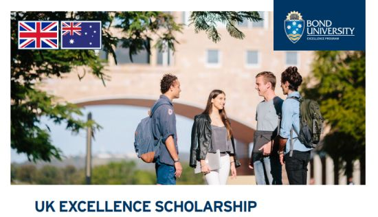 UK Excellence Scholarship at Bond University in Australia, 2019