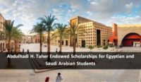 Abdulhadi H. Taher Endowed Scholarships for Egyptian and Saudi Arabian Students, 2019