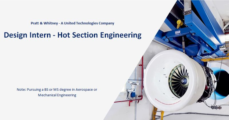 Hot Section Engineering Design Internship Program