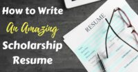 How to Write a Resume for a Scholarship