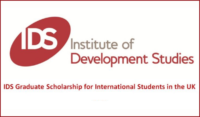IDS Graduate funding for International Students in the UK, 2020