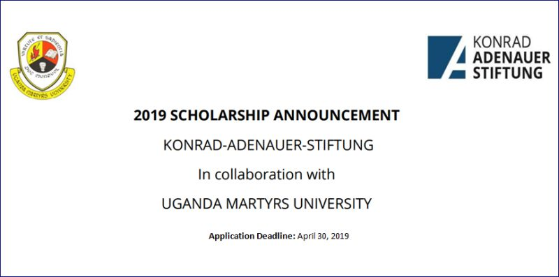 KAS and UMU Scholarships for Citizens of Uganda and South Sudan in Germany