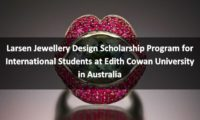 Larsen Jewellery Design program for International Students in Australia
