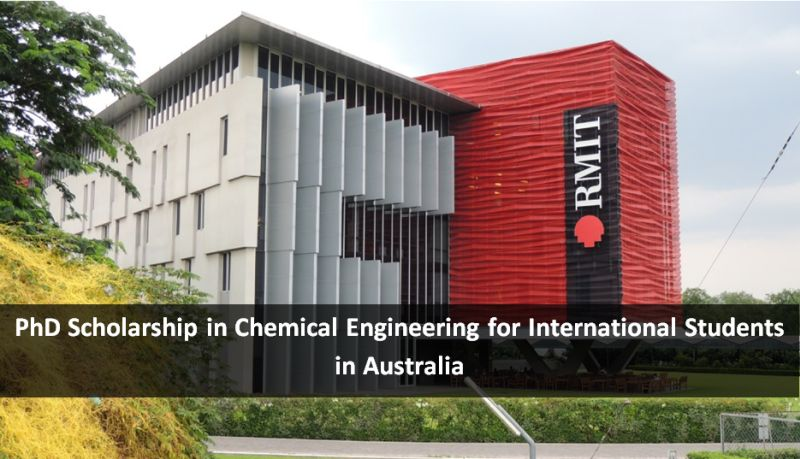 PhD Scholarship in Chemical Engineering for International Students in Australia