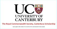 Royal Commonwealth Society Scholarship at the University of Canterbury, New Zealand