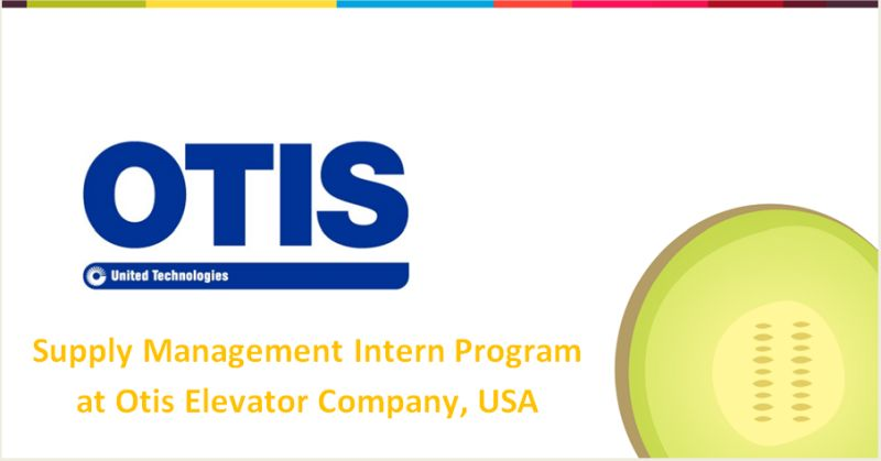 Supply Management Intern Program at Otis Elevator Company, USA
