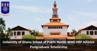 University of Ghana School of Public Health WHO HRP Alliance Postgraduate Scholarship 2019/2020