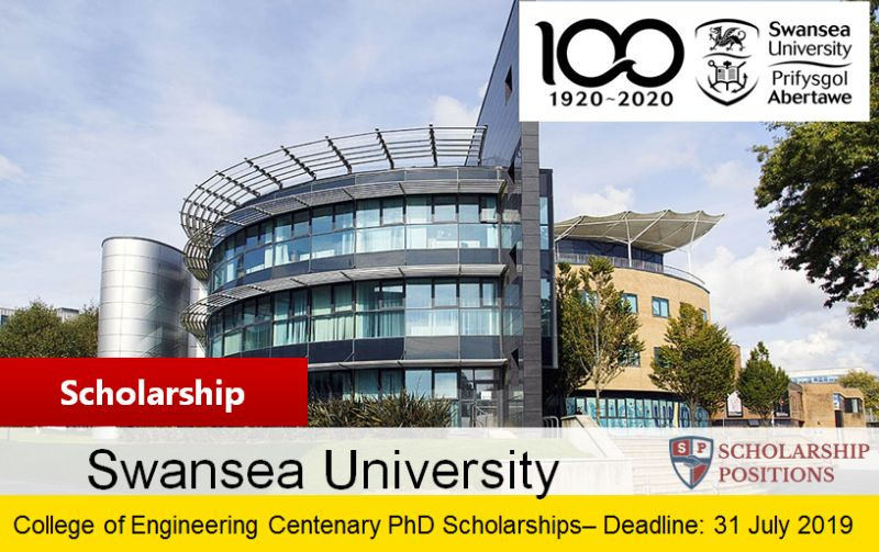 College of Engineering Centenary PhD funding for International Students in the UK