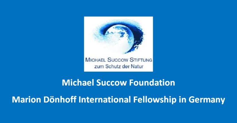 Michael Succow Foundation Marion Dönhoff International Fellowship in Germany