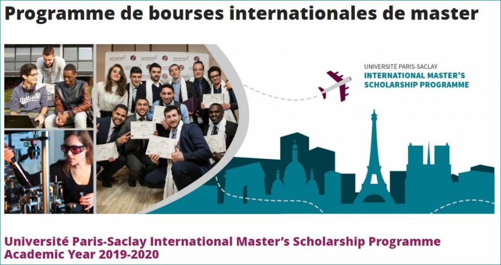 Université Paris-Saclay International Master's programme for Academic Year 2019-2020