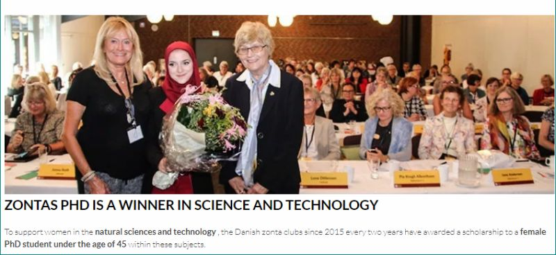 Zonta Denmark's PhD funding for International Female Students in Denmark