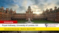 Donald Davies Computer Science Scholarships for International Students in UK, 2019