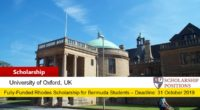 Fully-funded Rhodes Scholarships for Bermuda Students in UK, 2019