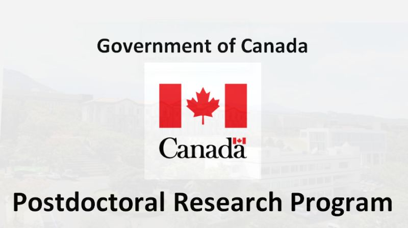 Government of CanadaPostdoctoral Research Program for International Students, 2019