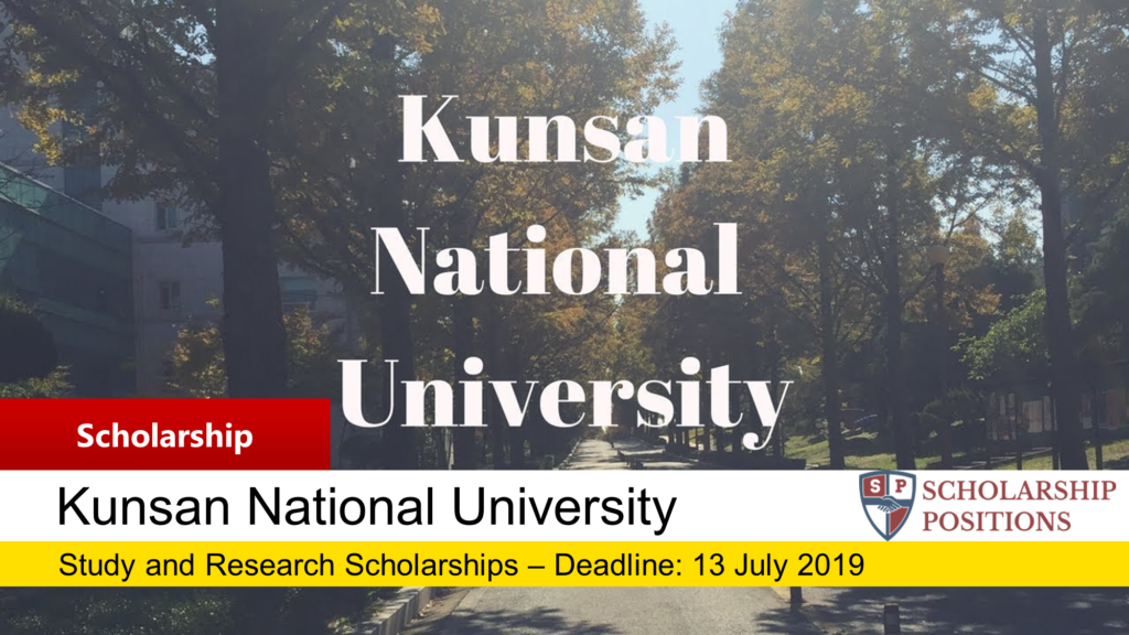KNU Study and Research Scholarship on Intelligent Autonomous Systems Robotics Learning and Control, 2019