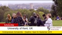 Kent funding for Academic Excellence to International Students in UK, 2019