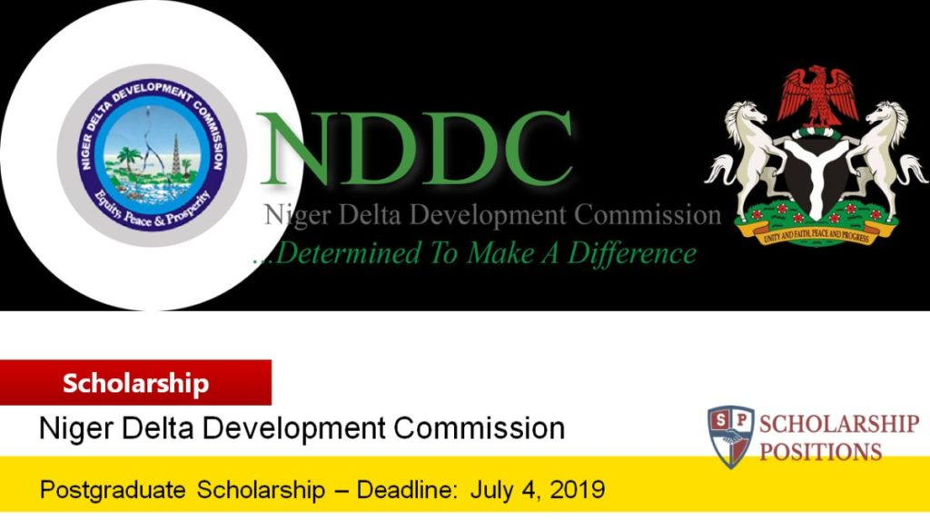 NDDC Postgraduate Foreign Scholarship in Nigeria, 2019