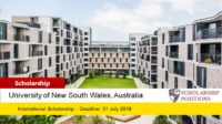 New UNSW International Academic Excellence Program in Australia, 2019