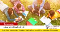 South Asia Scholarships at the University of Salford in UK, 2019