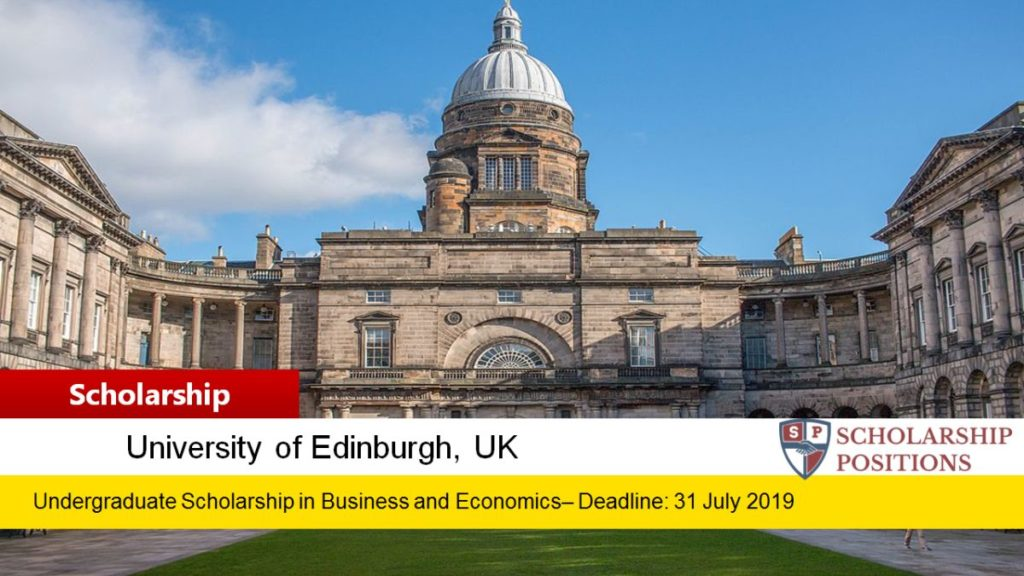 University of Edinburgh Business and Economics Scholarships for US Students in UK, 2019
