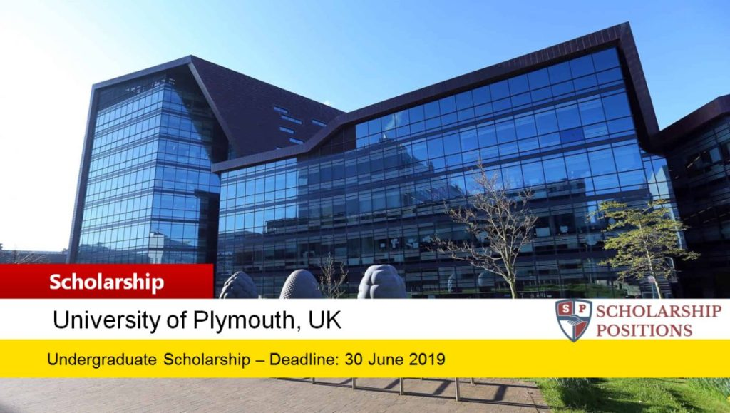 University of Plymouth International Academic Excellence Scholarship in UK, 2019