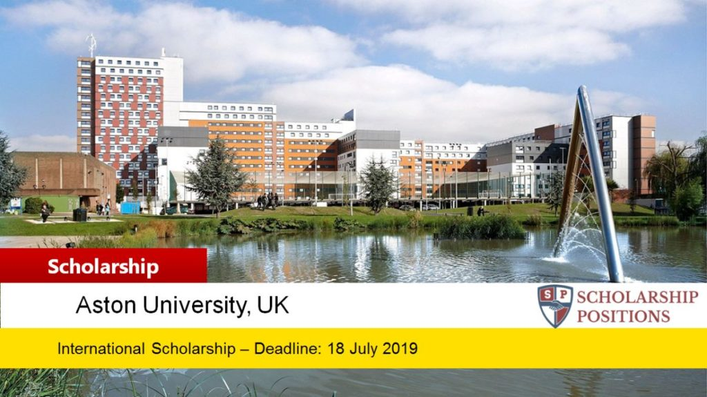 Welcome to Aston funding for International Students in UK, 2019