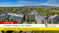 150 Go Canterbury Scholarship in New Zealand, 2019