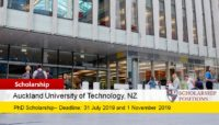 AUT Faculty of Business Economics and Law Doctoral Scholarships for International Students