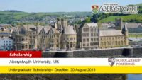Aberystwyth International Scholarship in the UK, 2019