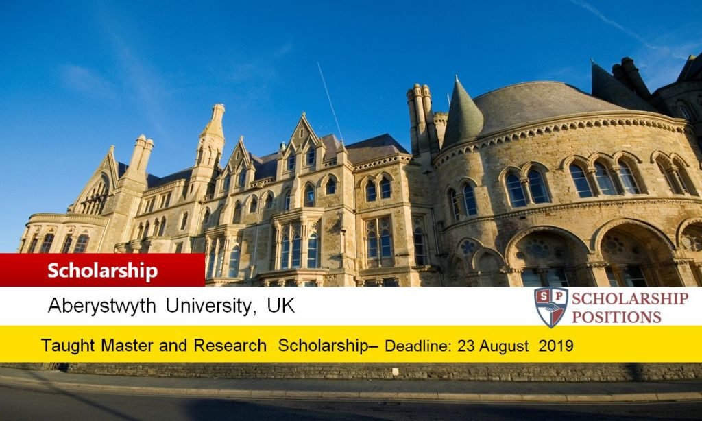 Aberystwyth International Taught masters programmes in UK, 2019-2020
