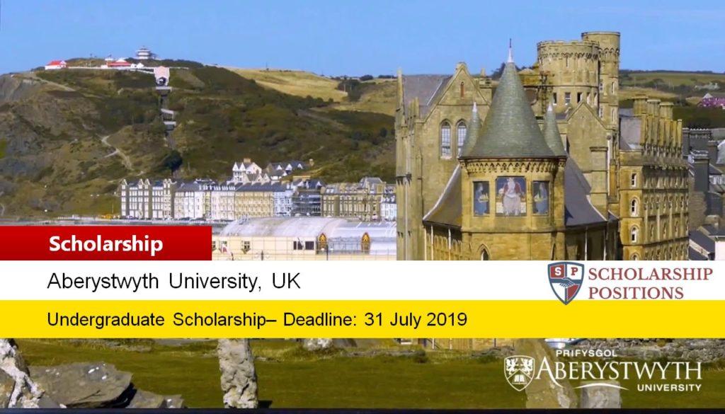 Aberystwyth University International Excellence undergraduate financial aid in UK