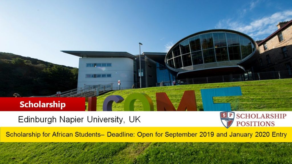 African Scholarships at Edinburgh Napier University in the UK, 2019-2020