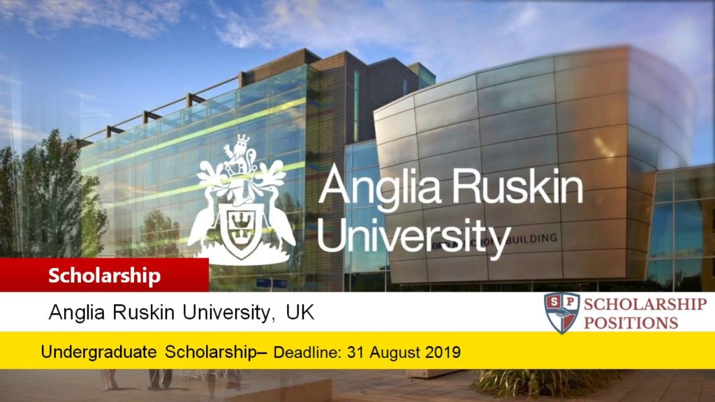 Anglia Ruskin University EU Bursary in the UK, 2019-2020