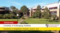 Bangladesh Bursary at the University of Wollongong in Australia, 2019