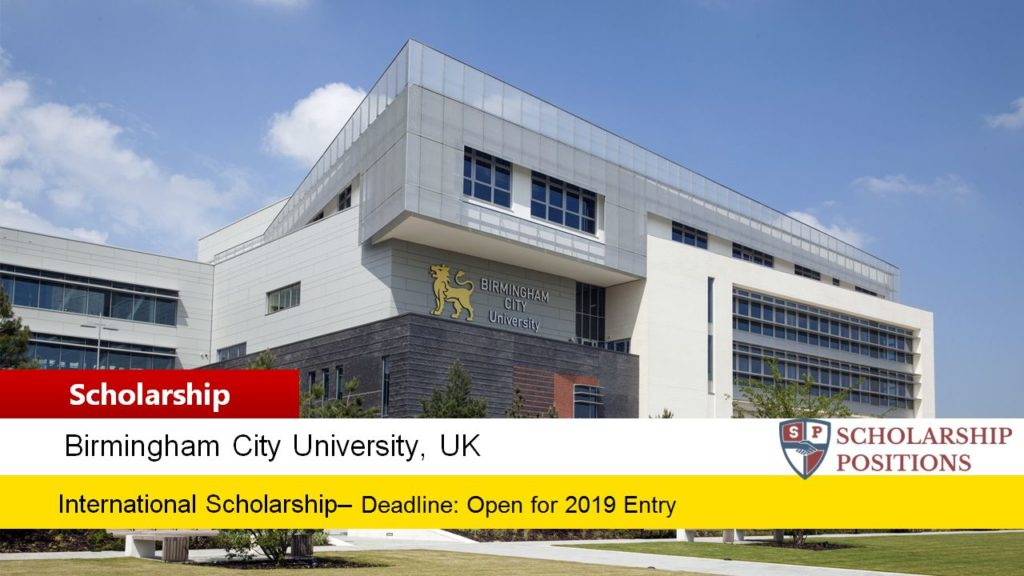 Birmingham City University Undergraduate international awards in UK, 2019
