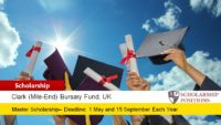 Clark (Mile-End) Bursary Fund for International Students in UK, 2019