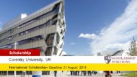 Coventry University European City of Sport Scholarship in UK, 2019