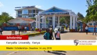 EAC-KFW Scholarships for Internarional Students at Kenyatta University in Kenya, 2019