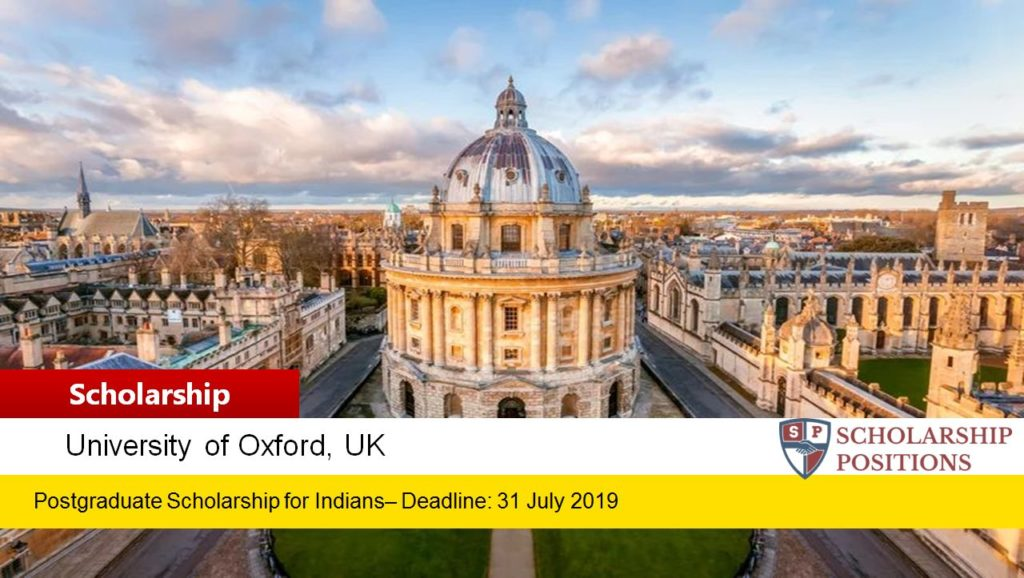 Fully-Funded Rhodes Scholarships for Indian Students in UK, 2020