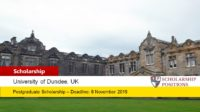 Global Excellence postgraduate placements at the University of Dundee in UK, 2019-2020